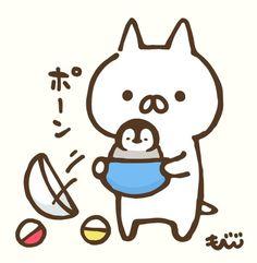 Cute Images, Cute Pictures, Penguin Drawing, Arte Fashion, Neko Ears, Penguin Party, Chibi Characters, Cute Penguins, Dream Art