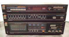 Sanyo Stereo Amplifier Tuner AM FM 877 Spectrum Analyzer 687 Graphic Equalizer #Sanyo