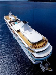 Kite aerial view of the Paul Gauguin Ship in the Marquesas islands, French Polynesia ✯ ωнιмѕу ѕαη∂у