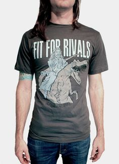 Jesus on a velociraptor Tee from Fit For Rivals