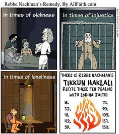 Tikkun Haklali: Rebbe Nachman's General Remedy -- 10.26.14