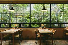 The Coolest Cafés in Osaka Osaka, Cafe Interior, Interior And Exterior, Interior Design, Cool Cafe, Cafe Bar, Cafe Restaurant, Japanese Coffee Shop, Mein Café