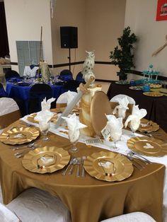 Goddess Athena table decoration. Percy Jackson Elegant Table Senior Serve