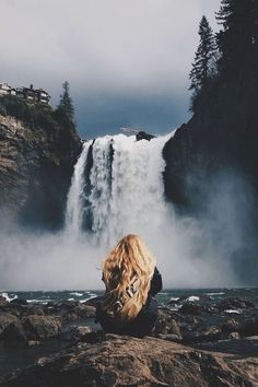 how lovely would it be to sit in front of a waterfall and leave your world for a bit