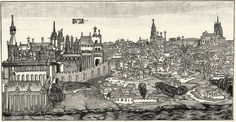 The town of Buda in the 14th Century