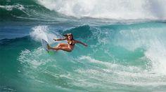 surphile:  Pauline Ado. Power turn.via rip curl