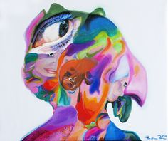 Paulina Penc, Individuation 10, 50 / 50 cm, acrylic on canvas, 2014 on ArtStack #paulina-penc #art