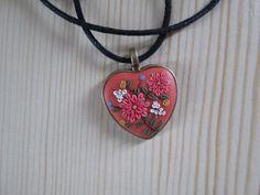Floral Heart Pendant by FernandaMcCormack on Etsy