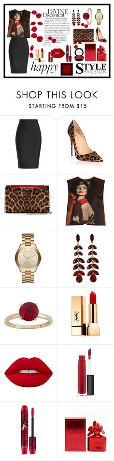 """""""Sem título #276"""" by criscaruccio ❤ liked on Polyvore featuring Roland Mouret, Christian Louboutin, Prada, Michael Kors, Yves Saint Laurent, Lime Crime, John Lewis, Physicians Formula, Marc Jacobs and MAC Cosmetics"""