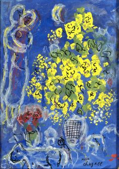 Prints by Marc Chagall Circus | Marc Chagall, Le bouquet jaune, 197
