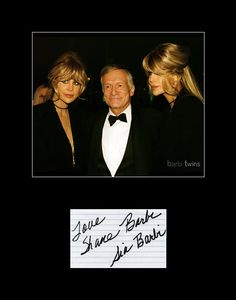 Playboy Models Animal Activists Barbi Twins Dual Autograph and Photo Framed and Matted