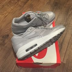 Women's Nike Air Max 1 Worn once and back in the original box! Ridiculously sad that these are a tad too big. Price is firm at $95. Nike Shoes Athletic Shoes