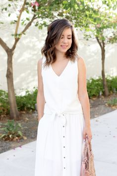2ff4182f2 1 quick way to nail a summer look. Cute Spring OutfitsWhite MaxiWhite  DressSummer ...