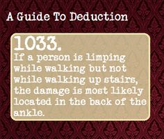 (48) a guide to deduction | Tumblr