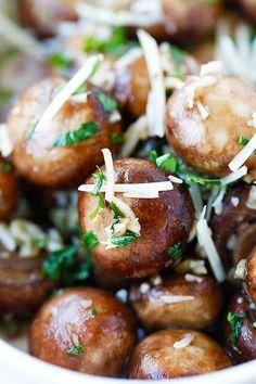 Garlic Herb Sauteed Mushrooms - best