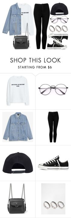 """#14156"" by vany-alvarado ❤ liked on Polyvore featuring MANGO, Monki, Topshop, Boohoo, Converse, Fendi and ASOS"