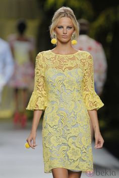 Francis Montesinos Spring-summer 2013 - Ready-to-Wear Paris Chic, Simple Dresses, Beautiful Dresses, Short Dresses, Dress Brokat, Cocktail Outfit, Evening Dresses, Summer Dresses, Yellow Fashion
