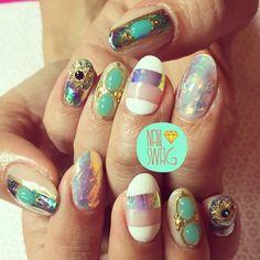 THE SHE'S BACK IN ACTION NAIL for @hannahluxdavis! #nailswag #nails #nailart #nailartclub #swag #LA