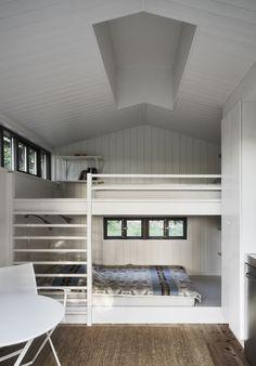 Villa AK, Hamra, Gotland - M. Backyard Guest Houses, Forest Cottage, Simple Interior, Interior Design, Beach Cottage Style, Compact Living, Cottage Interiors, Loft Spaces, Tiny House Design