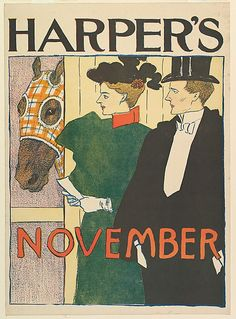Edward Penfield (American, 1866–1925). HARPER'S / NOVEMBER, 1895. The…