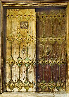 door of Historic Malek Building, Bushehr City, Iran