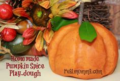 Homemade Pumpkin Spice Playdough