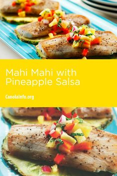 This mahi-mahi tastes like summer with the combination of mint and pineapple.