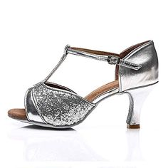 Roymall Womens SilverSatin Latin Dance ShoesModel 2597 9 BM US    You can  get more 76e53ab06