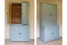 Larder Unit C/W Folding Doors  1000mmW X 550mmD X 2000mmH overall cornice Unfinished: £920 complete Stained & Lacquered: £1125 complete Handpainted In Farrow & Ball Colour Of Choice: £1425 complete