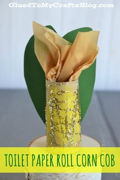 Toilet Paper Roll Corn Cob - Kid Craft - repinned by @PediaStaff – Please Visit ht.ly/63sNtfor all our pediatric therapy pins