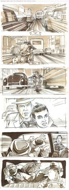 Indiana Jones and the Crystal Skull storyboard
