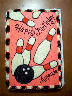 Bowling Birthday Cake Option