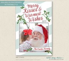 Easy Printable Christmas Photo Card by RelishDesignStudio, personalized Christmas cards, DIY holiday cards