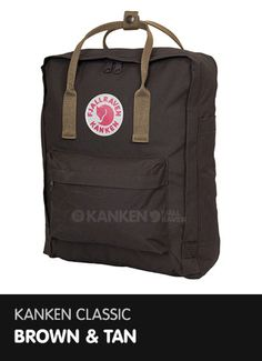 Kanken Classic - Brown and Tan  http://www.ilovemykanken.com/shop/products/kanken-classic-brown-tan.htm