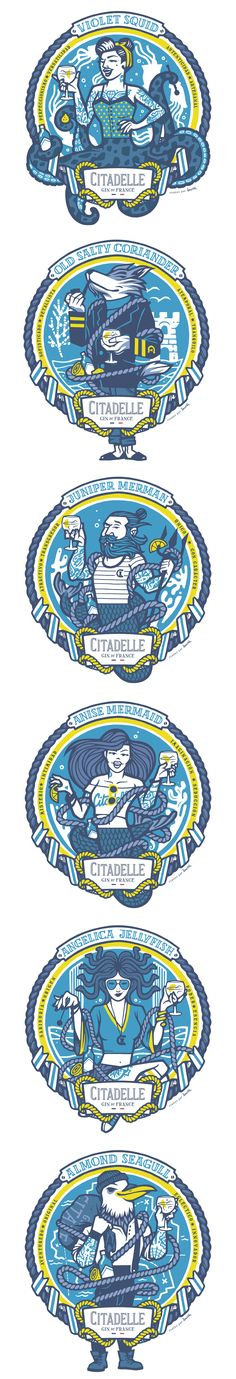 Illustrations for CITADELLE GIN by Lawerta