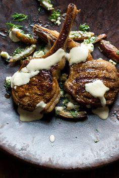 Lamb Chops With Dates, Feta, Sumac and Tahini Recipe Lamb Ribs, Lamb Chops, Lamb Recipes, Cooking Recipes, Aleppo Pepper, Lamb Dinner, Tahini Recipe, Herb Salad, Prune