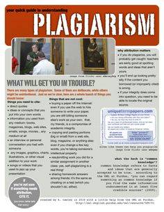 plagiarism handout, and thinking this may be a great intro to plagiarism with the freshmen. Get them out of their seats. Loved the lesson plan.
