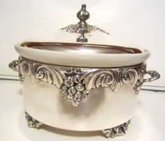REED & BARTON KING FRANCIS SILVER CASSEROLE HOLDER - Awesome Item Please RePinit and Thanks!  Have a GREAT Weekend.