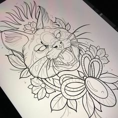 "52 Likes, 3 Comments - Fede Almanzor Tattoo (@fedealmanzor) on Instagram: ""Tattoo de mi gatete para la persona mas especial del mundo..Ella en @santapacienciatattoo…"""