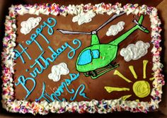 Helicopter Ice Cream Cake, decorated by Gretchen.