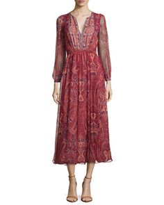 Minerala+B+Paisley-Print+Dress+by+Joie+at+Bergdorf+Goodman.