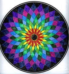 Mandala colored with Prismacolor color pencils. Mandala Art, Mandala Design, Mandalas Drawing, Zentangles, Coloring Books, Coloring Pages, Art Fractal, Mandala Coloring, Dot Painting