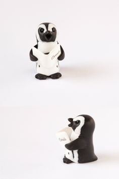 This miniature African penguin is super cheery at this time of year and is ready for you and your perfect Christmas.     Your special sculpture will arrive in its own bespoke printed gift box.  The ornament measures approximately 3.8cm (38mm/1 1/2inches) in height.    A happy penguin singing carols. March Of The Penguins, Happy Penguin, African Penguin, Unique Presents, Christmas Carol, Pet Gifts, Pet Portraits, Bespoke, Polymer Clay