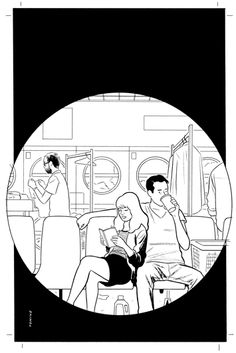 Official site for cartoonist and illustrator Adrian Tomine, including original art for sale, illustration samples, bibliography, and contact information. Drawing Reference, Line Drawing, People Illustrations, House Painter, Ligne Claire, Original Art For Sale, Black And White Illustration, Art Direction, Authors