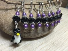 Penguin Stitch Marker Set- Snag Free Gift for Knitters