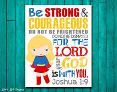 Be Strong & Courageous Joshua Superhero Wall Art. Superhero Wall Art, Superhero Classroom, Superhero Ideas, Joshua 1 9, Boy Decor, Boys Room Decor, Bedroom Boys, Boy Room, Bedroom Ideas