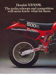 Old School Motorcycles, Honda Motorcycles, Cars And Motorcycles, Vintage Motocross, Vintage Racing, Vintage Bikes, Vintage Ads, Youth Dirt Bikes, Honda Dirt Bike