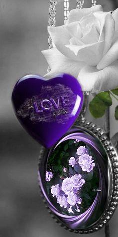 #colorsplash #purpleheart #whiterose #necklace