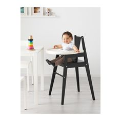 BLÅMES Highchair with tray, black black - best things form IKEA.