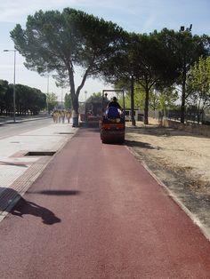 asfaltado carril bici soluasfalt Sidewalk, Natural Playgrounds, Activities, Walkway, Walkways